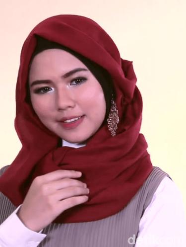 Tutorial Hijab Pakai Aksesoris Anting Anting Aksesoris Wajah