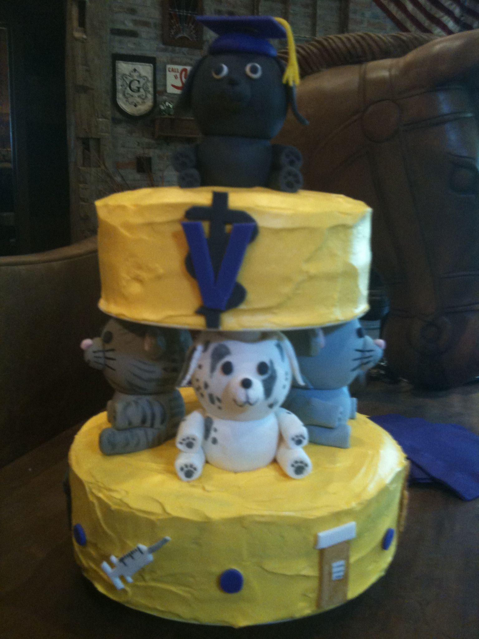 LSU Vet School graduation cake Vet cake, Vet school