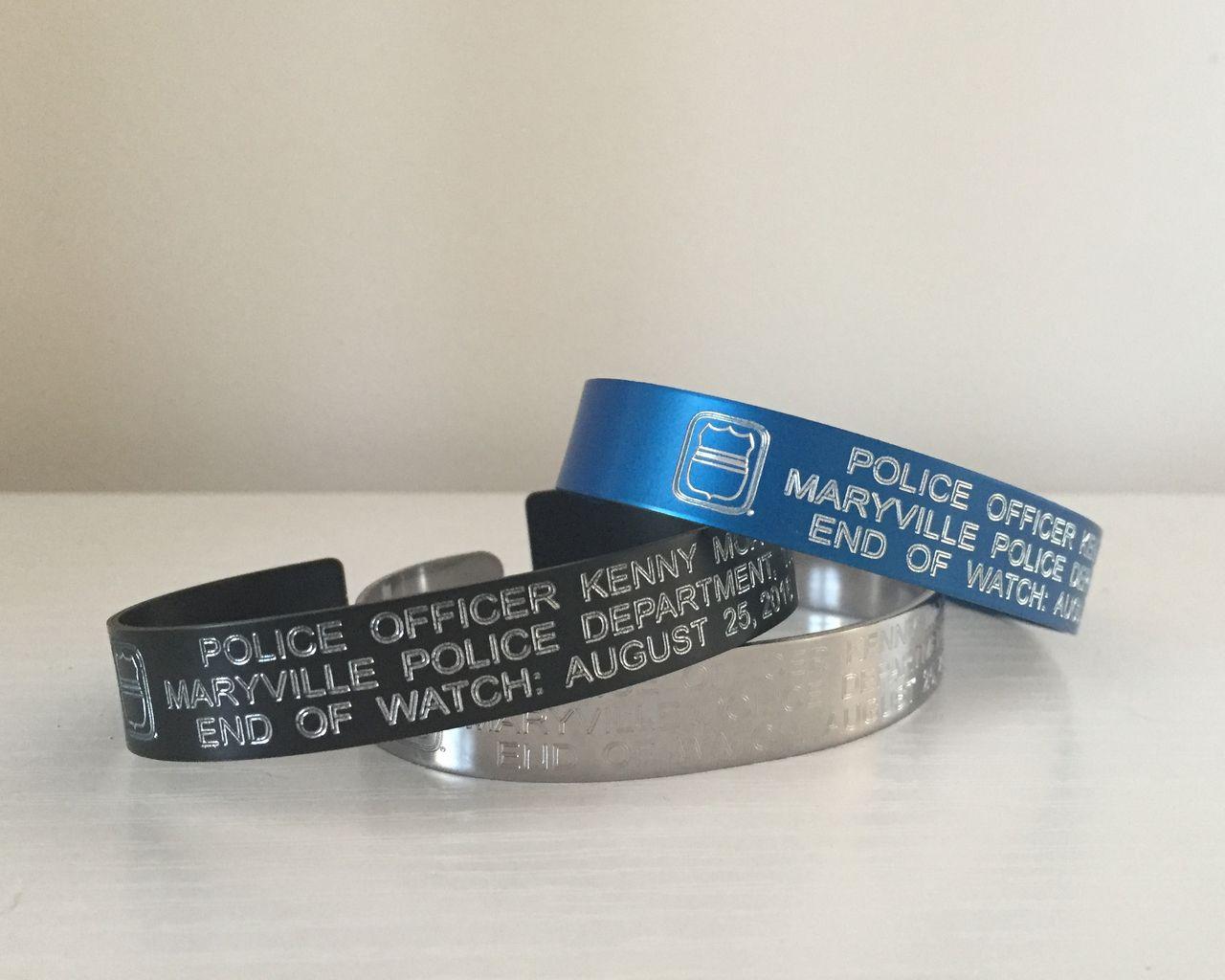 Personalized Odmp Memorial Bracelets Honoring Fallen Officers