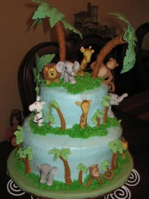 Awesome Jungle Animals Baby Shower Ideas | Perfect Babyshower Cake! Pics   February  2011 Birth Club