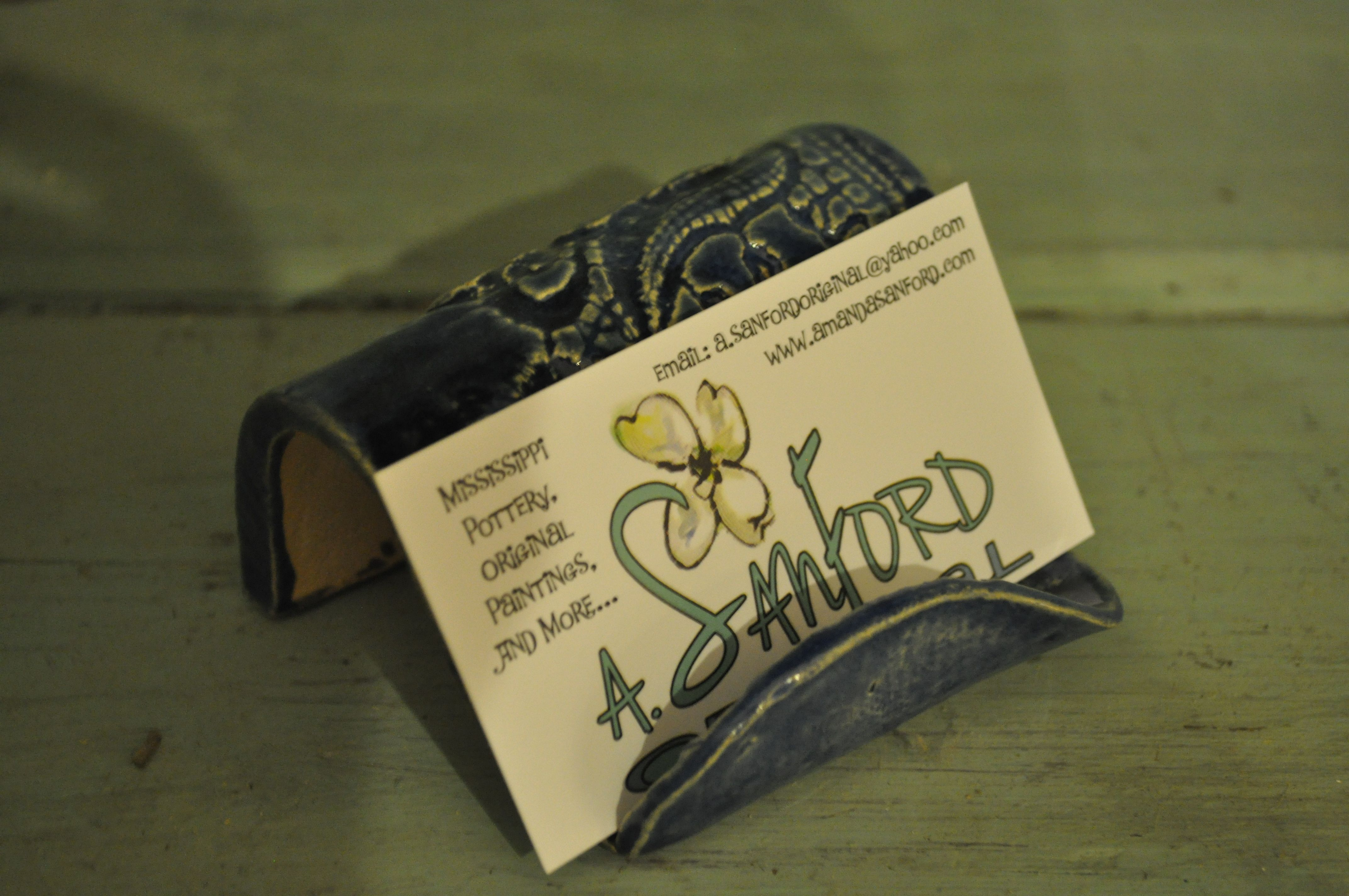 Corporate Christmas Gift Pottery Business Card Holder | My Art ...