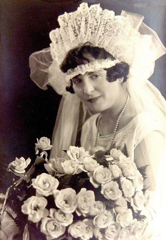 Lee (Libby) Staum Goldberg in her wedding dress 1920's | by reel3d1