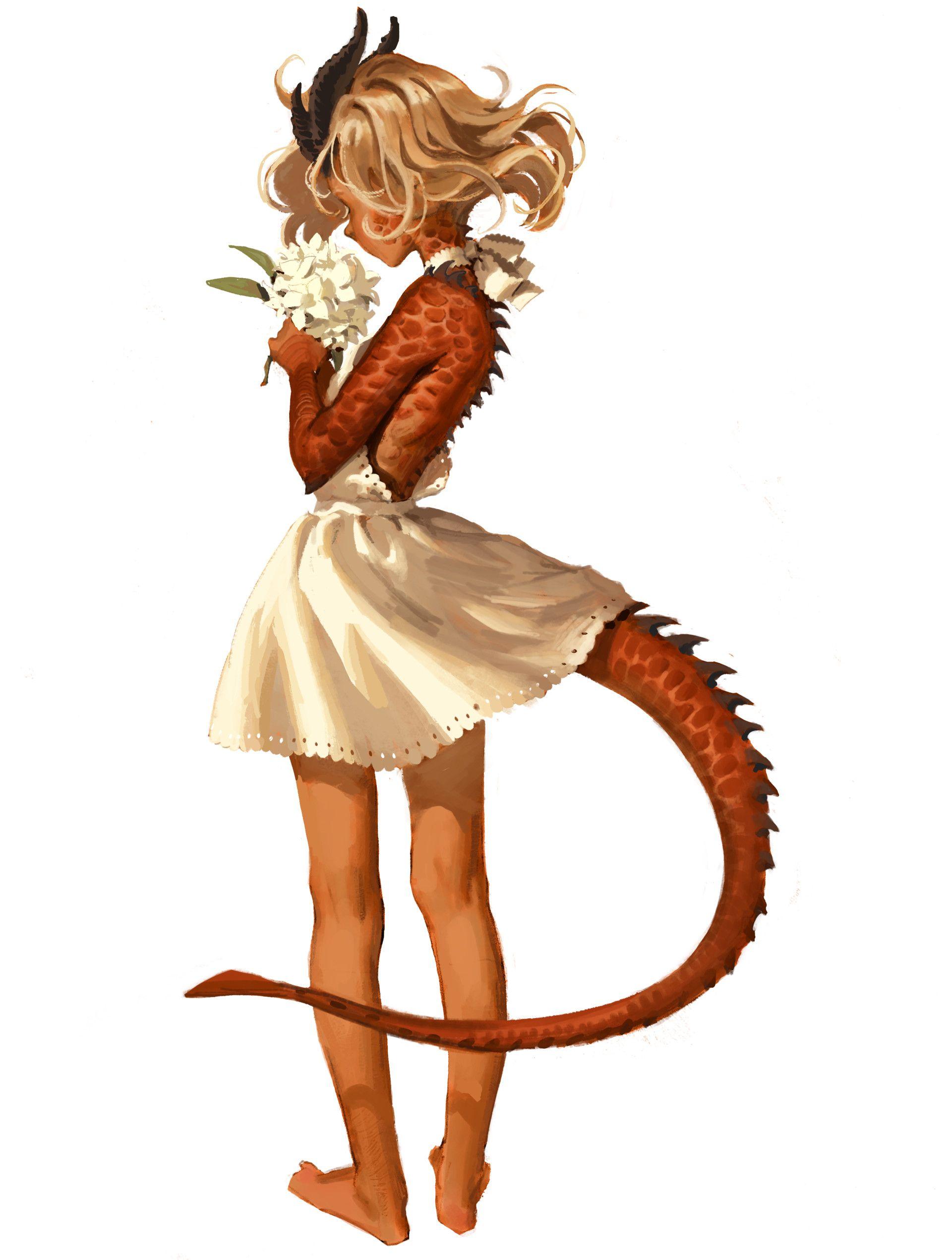Anime dragon girl hybrid