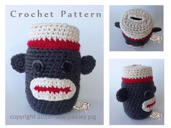 Sock Monkey Piggy Bank Coin Bank Crochet Pattern Cute Ideas