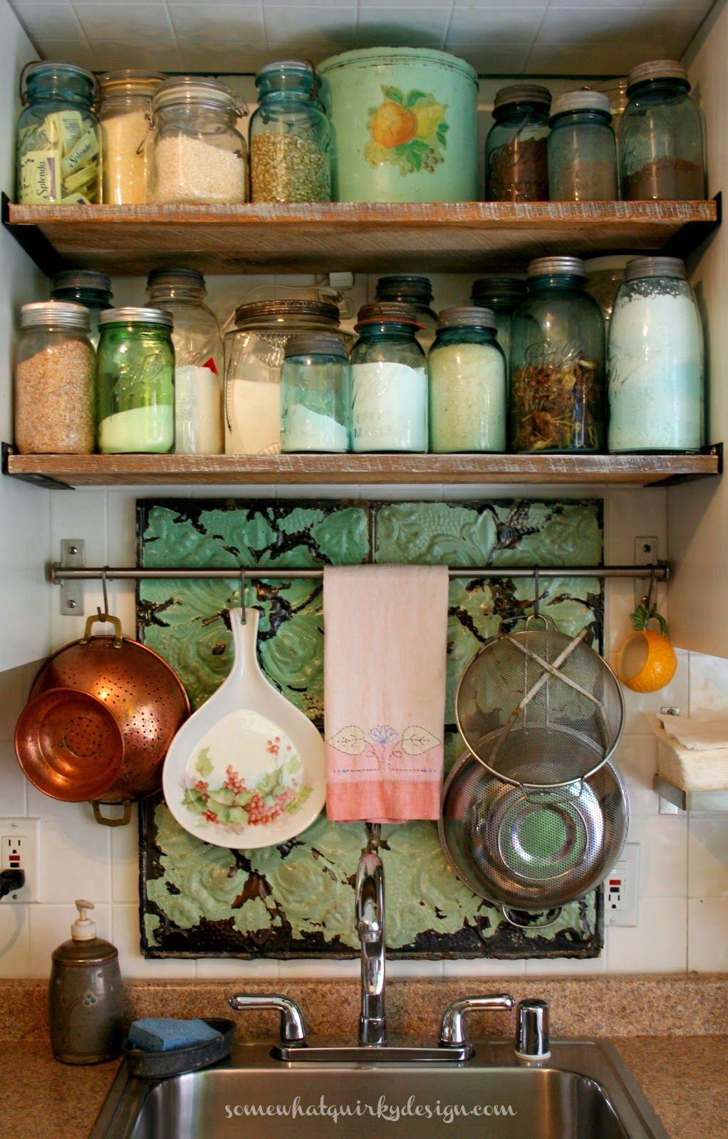 Somewhat Quirky How To Make Open Shelving Between