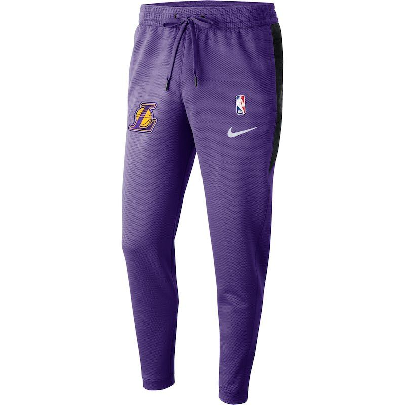 Los Angeles Lakers Nike Showtime Therma Flex Performance Pants Purple Los Angeles Lakers Pants Nike