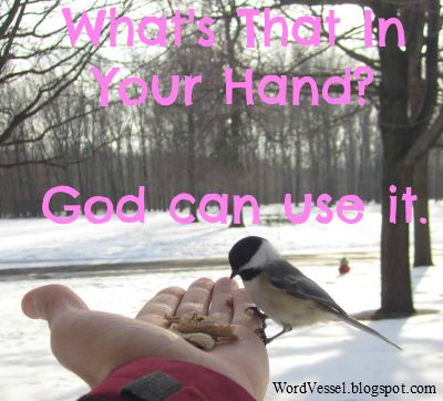 If God turn the shepherd staff of Moses into the rod of God, He can also use you. What's that in you hand? He can use it. http://wordvessel.blogspot.com/2014/02/whats-that-in-your-hand.html