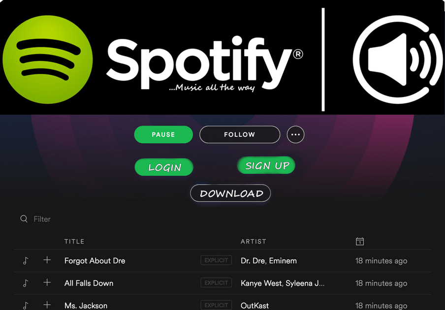 Spotify Login Web Player Account Accounting, Signs