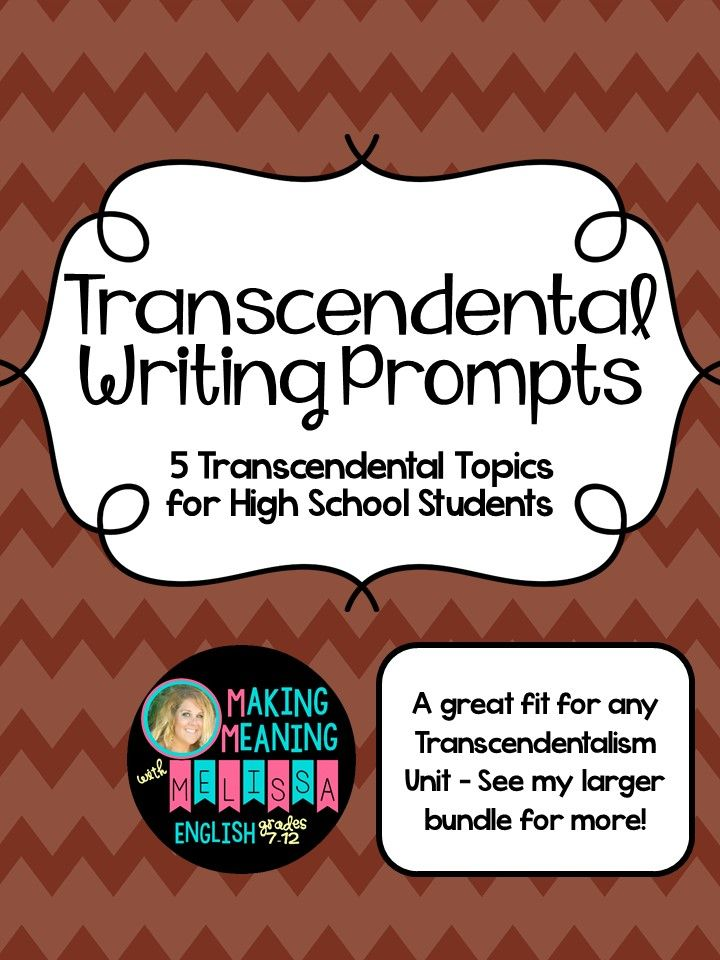 transcendentalism writing prompts high school writing prompts  transcendentalism writing prompts high school