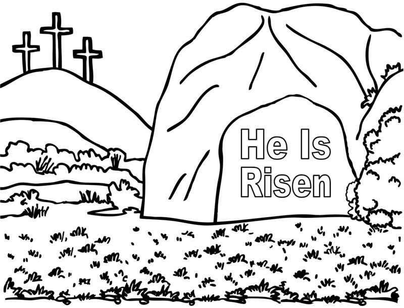 empty tomb coloring pages | He Is Risen | Church Fun | Pinterest | Best School lessons ...