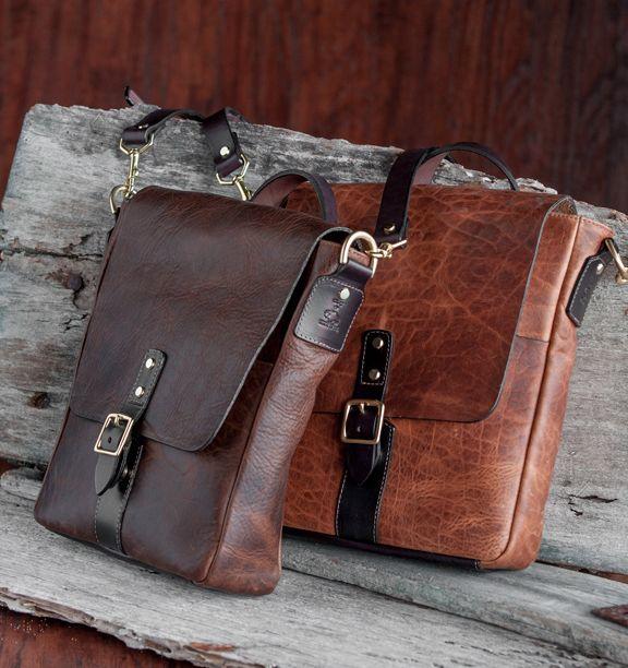 Coronado Leather Oil Tanned Slim Messenger