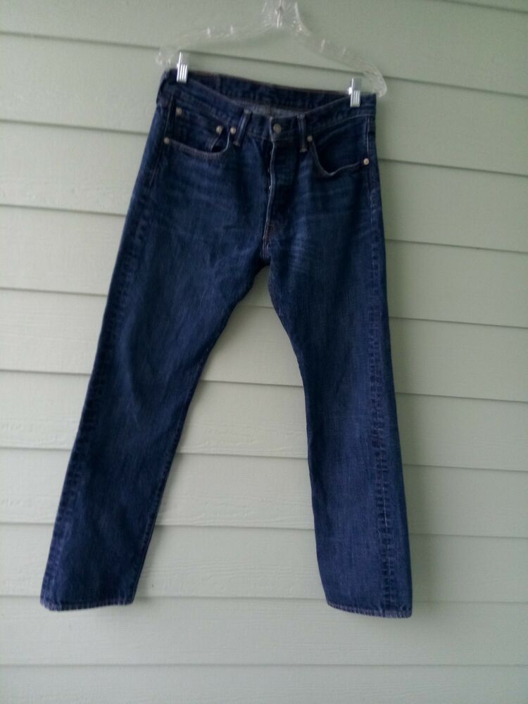 6db6eece Levis The Original Mens Jeans 501 Button Fly Straight Leg 32 X 32 Selvedge # fashion