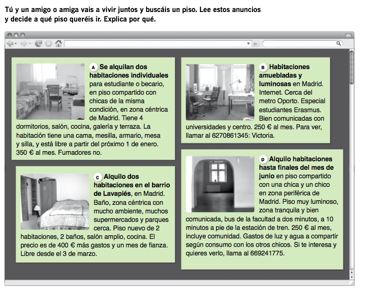 Casa--anuncios de piso | Vocabulario | Pinterest | Spanish, Spanish ...