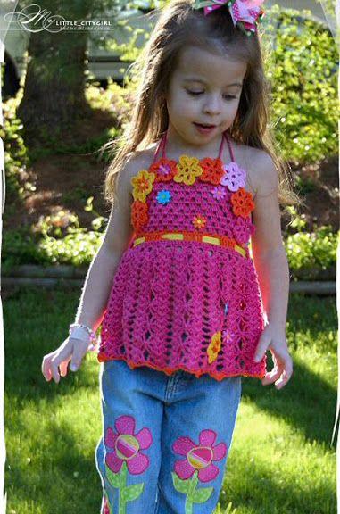 Wunderschön... Häkelkleidung für Mädchen...Inspiration | вязание ...