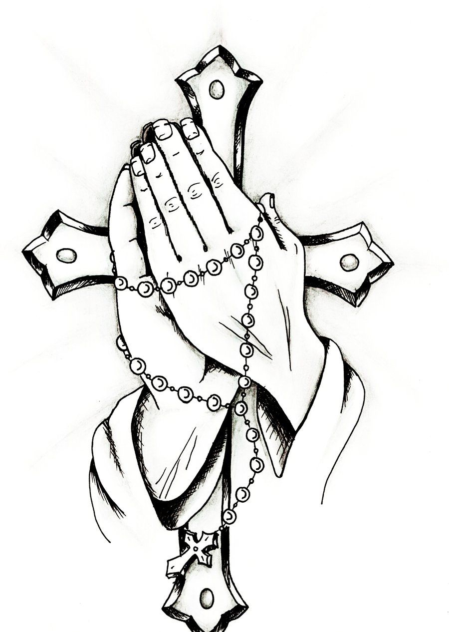 Praying hands are simple to draw, if you have step-by-step ...