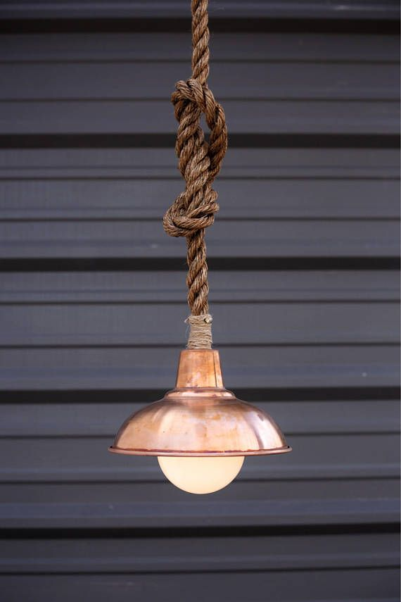 Copper Pendant Light Barn Lighting Manila Rope Lights Rustic Chandelier Modern Industrial