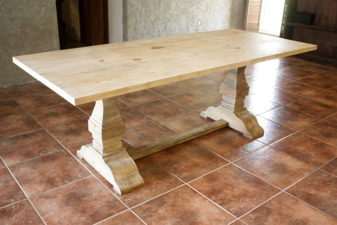 Restoration Hardware Inspired Trestle Dining Table   Build It Craft It Love  It