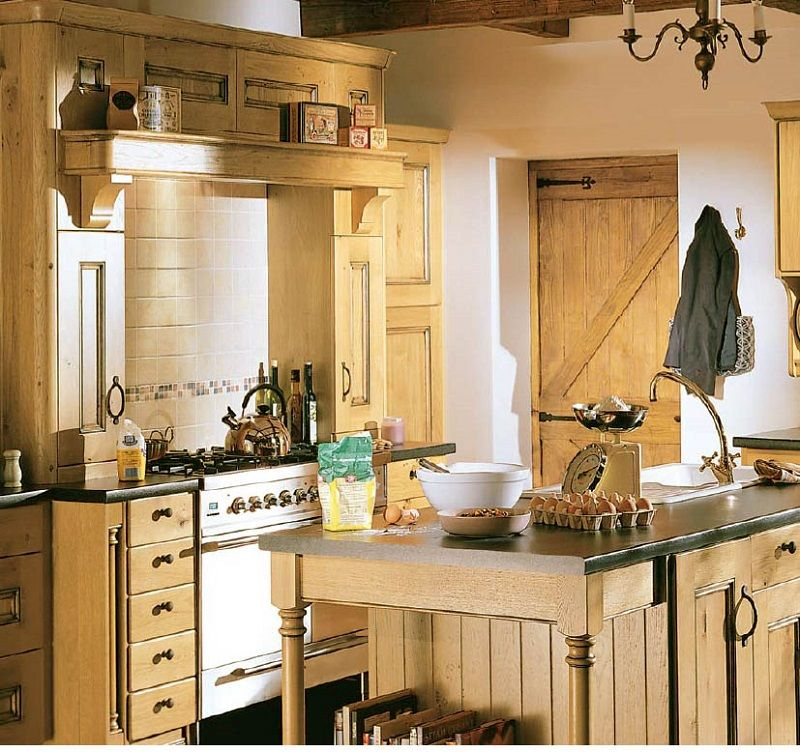 Country Cottage Kitchen Design Prepossessing Amazing Kitchen Country Style With Painted Wooden Material Design Review