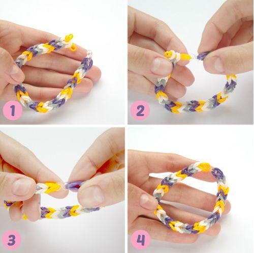 Pulseras de ligas con 4 dedos