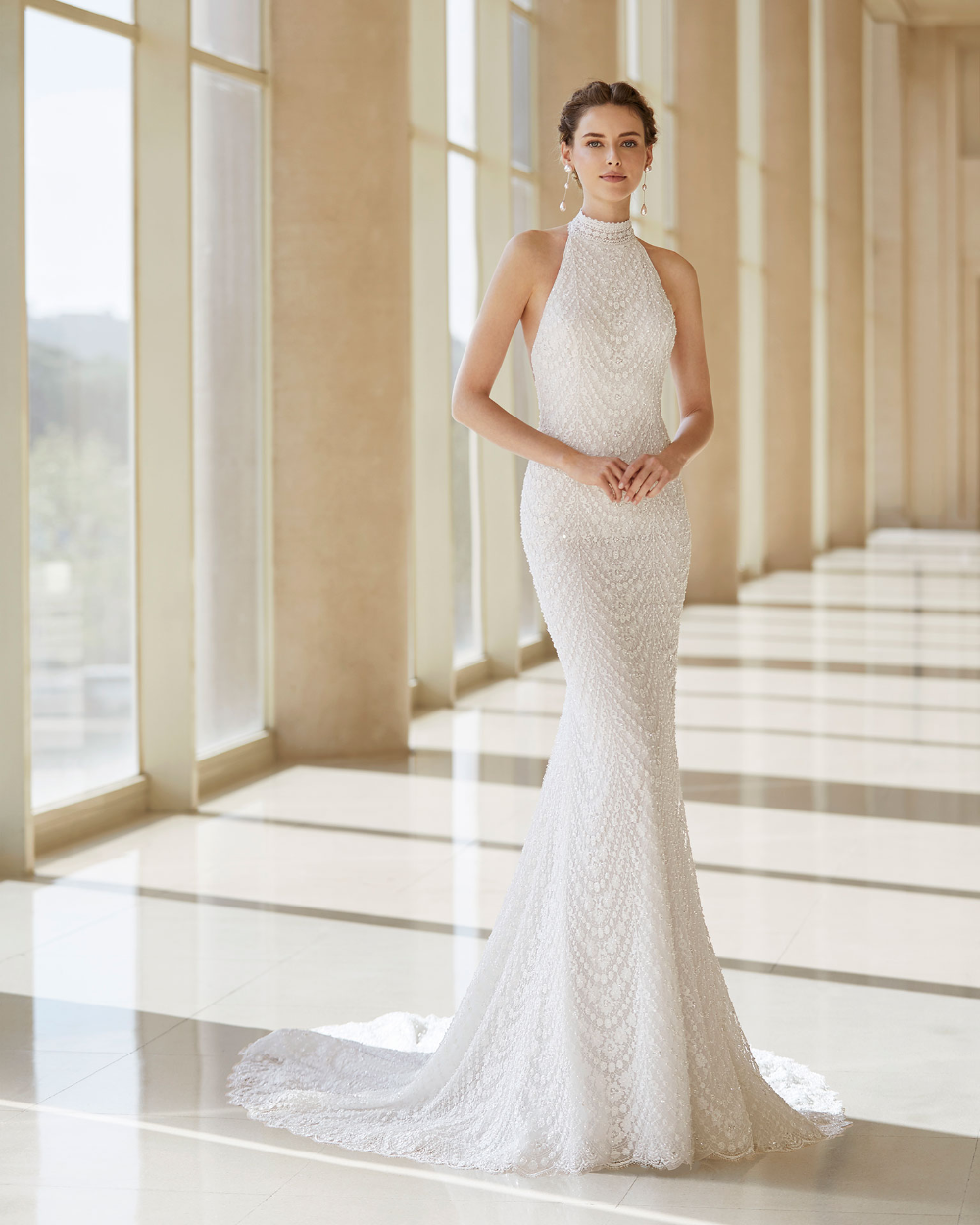Selva Bridal 2020 Rosa Clara Couture Collection Figure Flattering Wedding Dress Halter Wedding Dress Flattering Wedding Dress