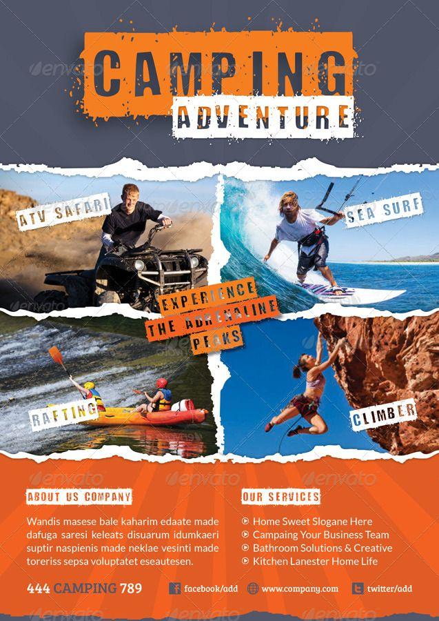 Afbeeldingsresultaat voor flyer camping camping avonturen - camp flyer template