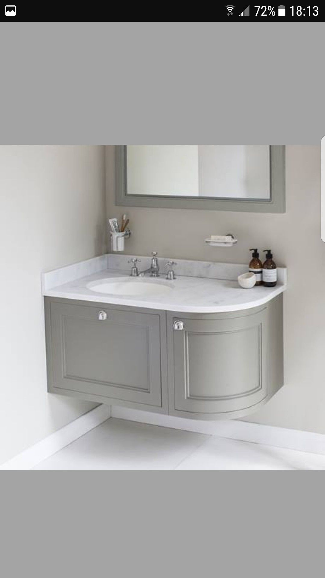 Pin By Asha Nassor On Future House Corner Sink Bathroom Small