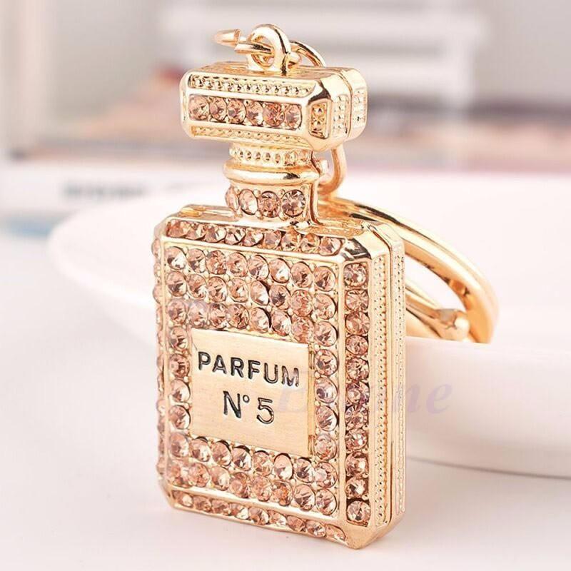 Chanel No 5 Perfume Bag Charm Keychain Fashionable Keyring To