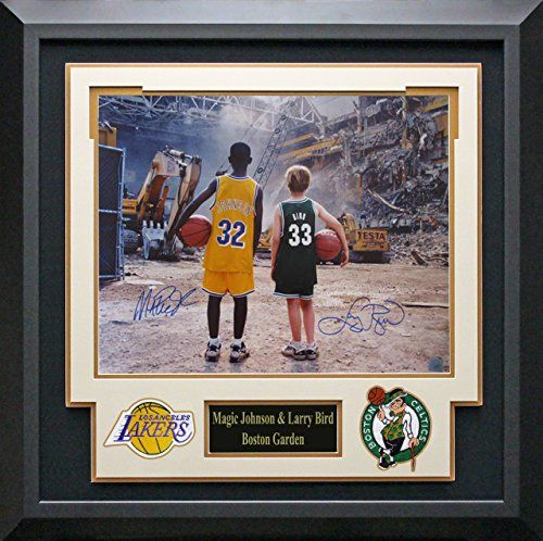 2aad925d9bc Custom design by Art and Frame Express in Buy a authentic Larry Bird Magic  Johnson Autographed Photo Framed. Search for Larry Bird Magic ...