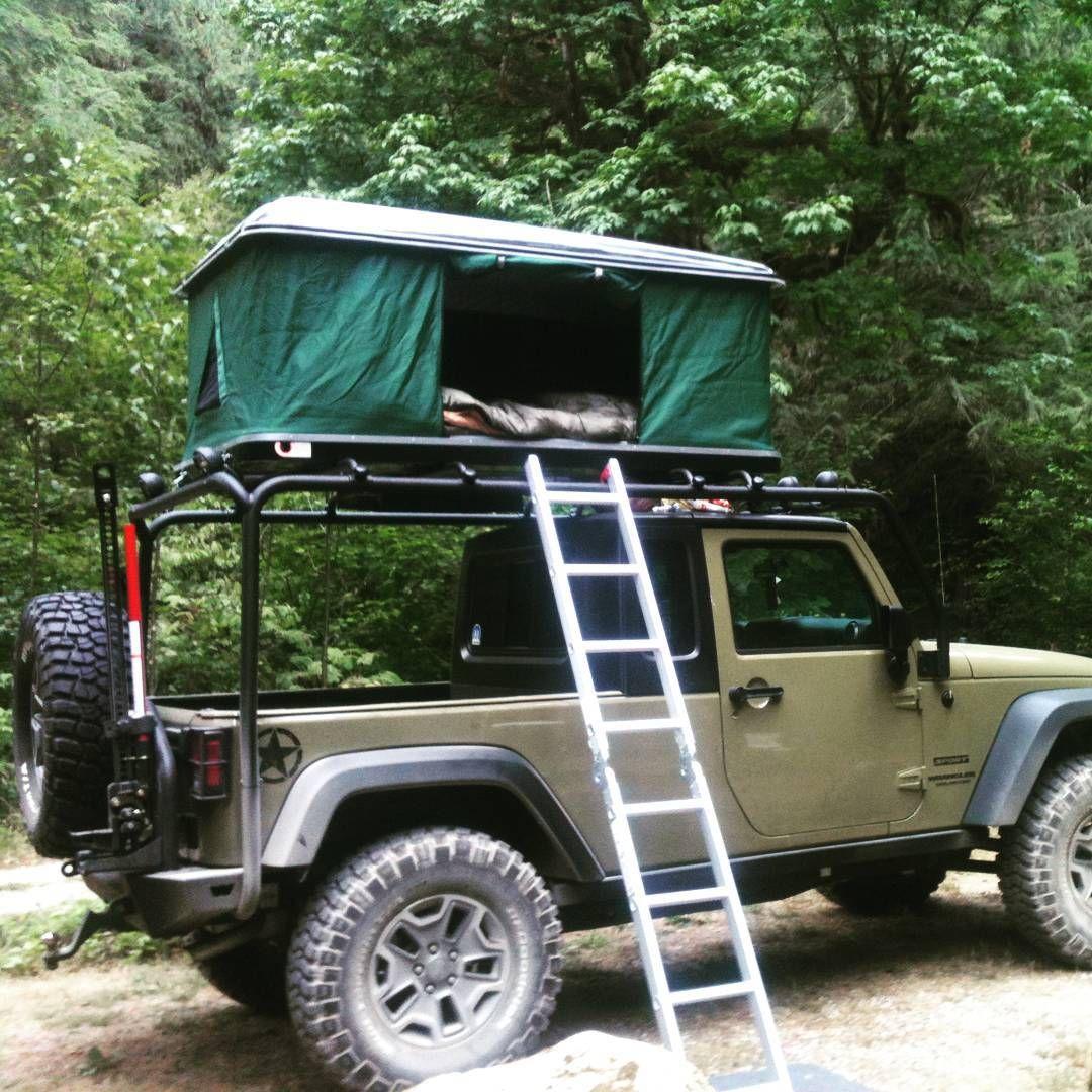 J.M rocking his custom Jeep, sporting a Bigfoot Hardshell