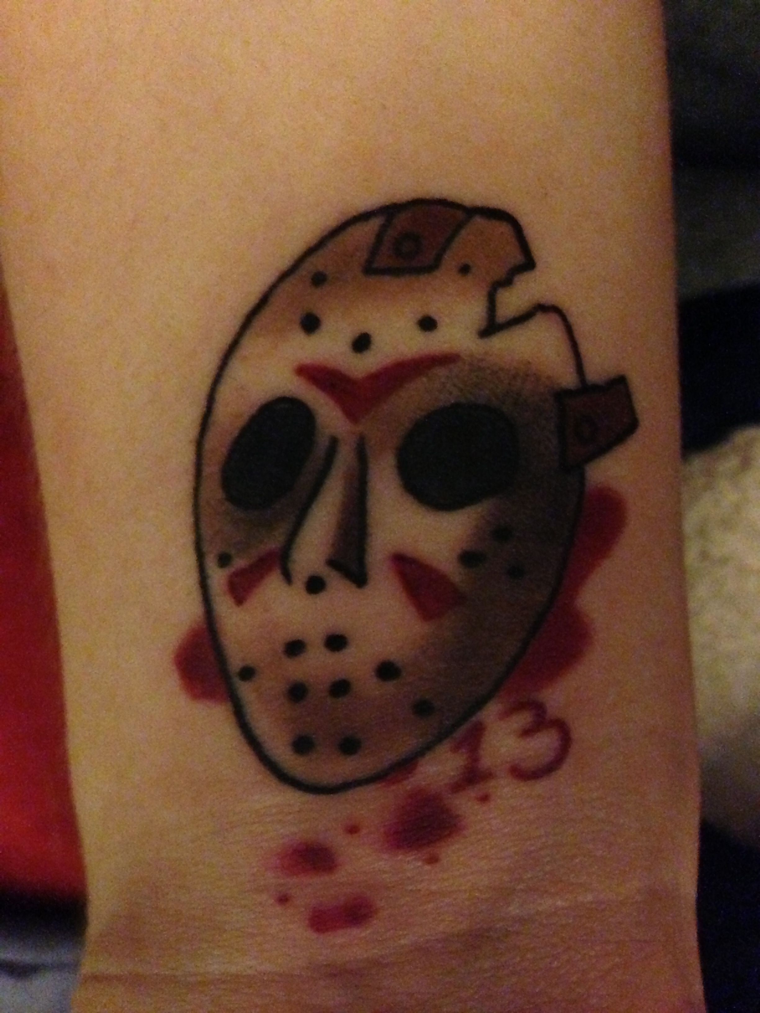 Flash art friday the 13th tattoo shop special on 13s