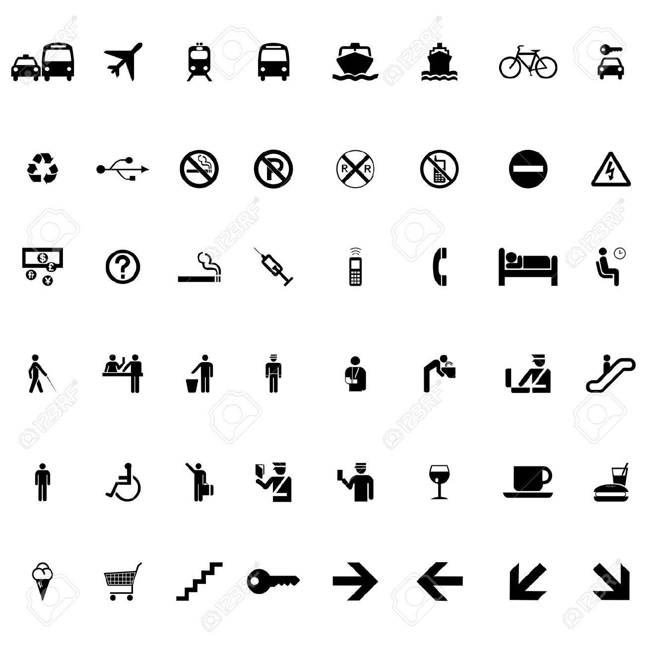 22207613 set of signs and symbols vector vector icon travelg 22207613 set of signs and symbols vector vector biocorpaavc Gallery