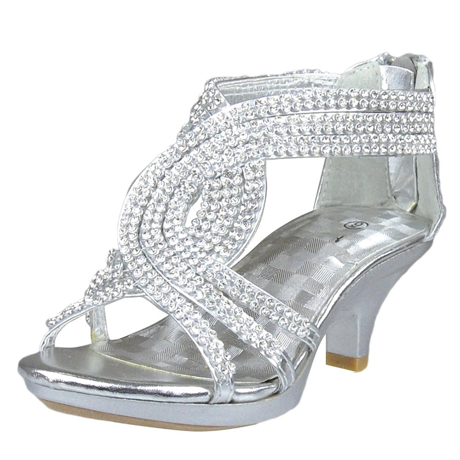 Kids Dress Sandals Embellished Overlay Twist Pageant High Heels Review More Details Here Girls Sanda Pageant High Heels Flower Girl Shoes Girls Dress Shoes