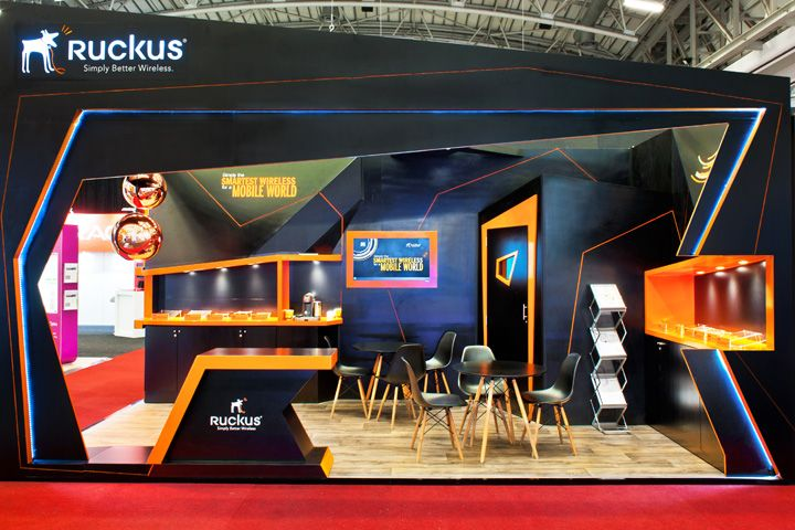 Exhibition Stand Design Cape Town : Ruckus wireless booth at africacom by whaam concepts cape