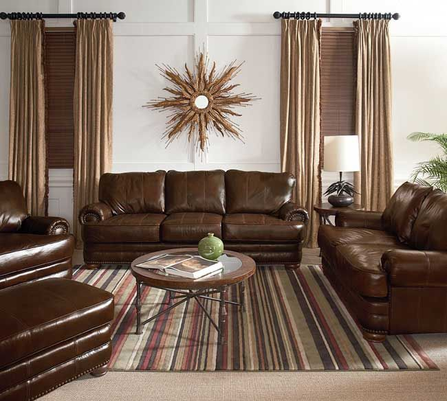 Lane 863 Stanton Sofa Collection In Top Grain Leather