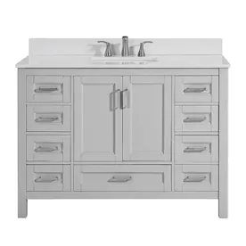 Freestanding Single Sink Bathroom Vanities With Tops At Lowes Com
