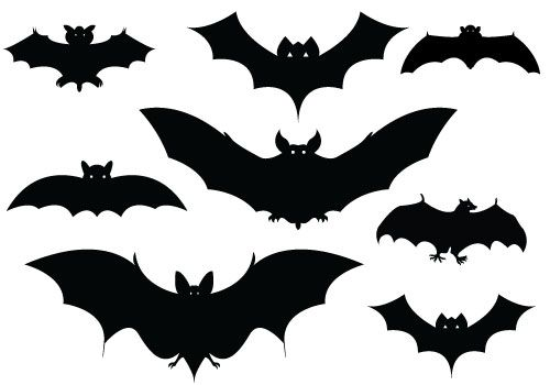 Halloween Bat Silhouette Vector Pack DownloadSilhouette Clip Art - halloween design
