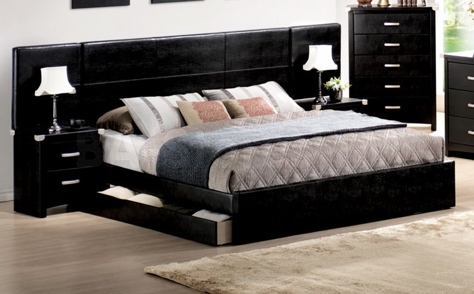 Be bed frames with headboard storage - Beds