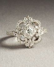 This vintage wedding ring is so elegant!  Mr. Right will totes get this for me.
