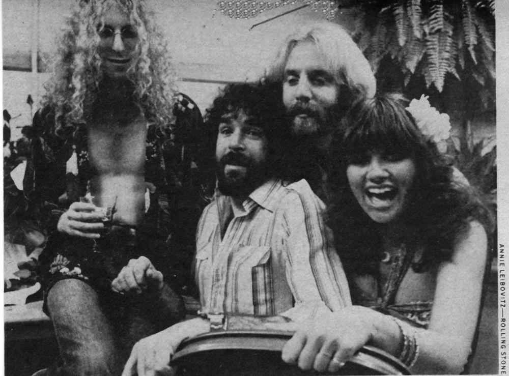 Andrew Gold, Linda Ronstadt, Waddy Wachtel, Kenny Edwards. #rollingstone #lindaronstadt