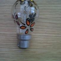 hand painted light bulb