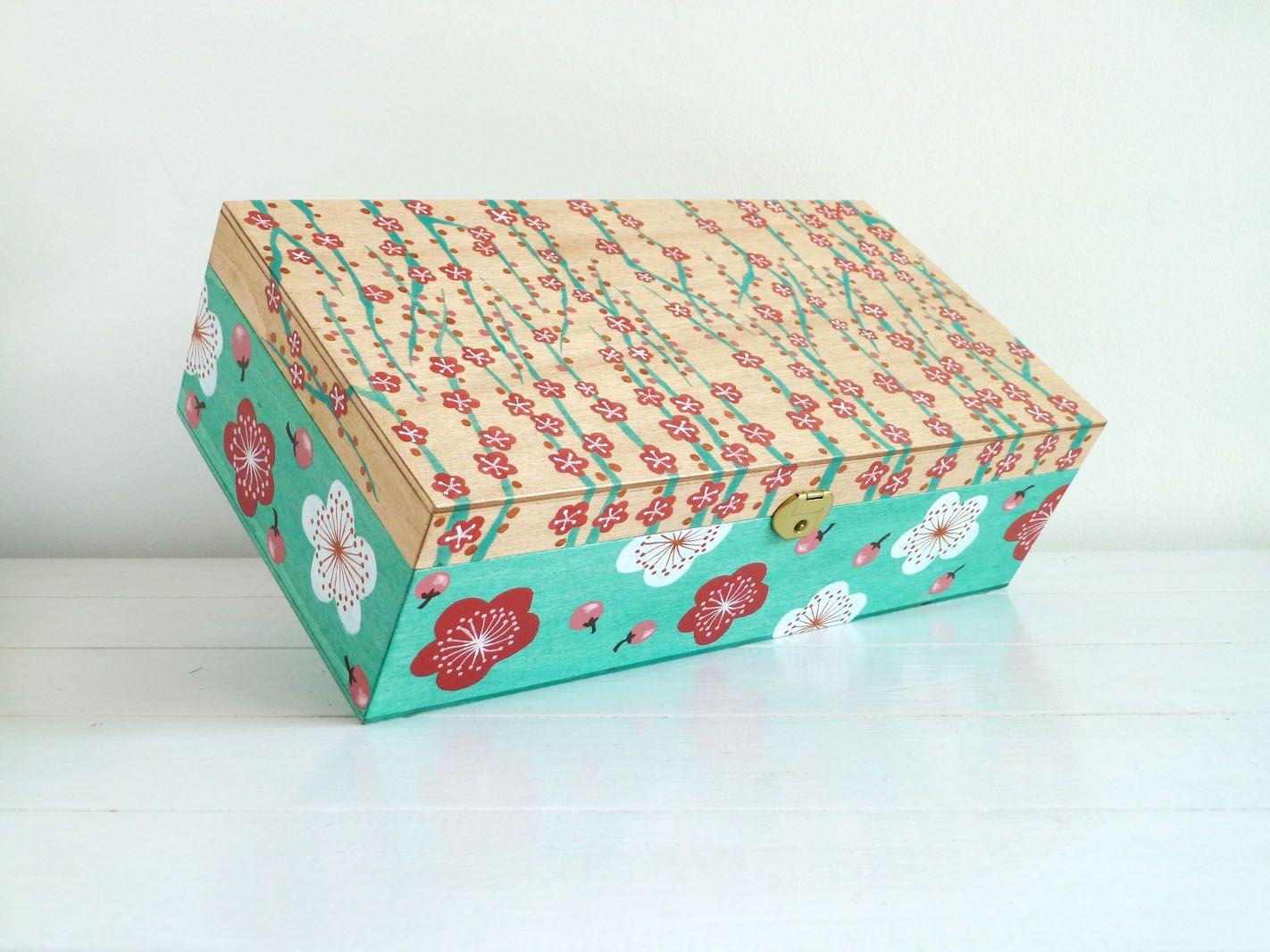 Caja joyero japo h diy pinterest joyero y cajas - Como hacer una caja de madera paso a paso ...
