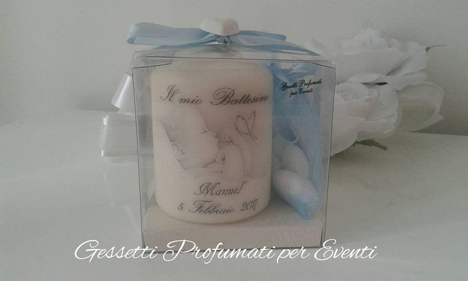 Super Bomboniera candela personalizzata battesimo | Bomboniera, Candele KZ34
