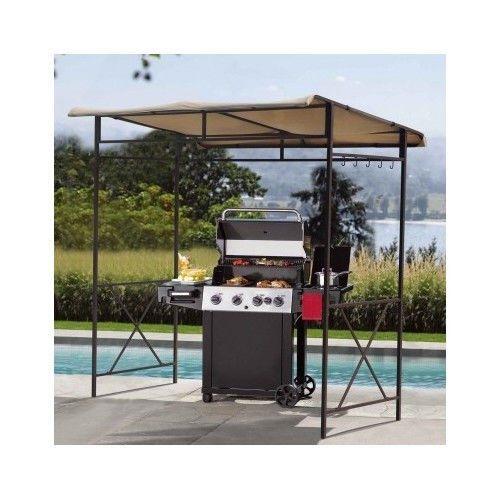 Canopy Grill Patio Bbq Shade Gazebo Outdoor Cover Backyard Tent Deck Tarp Awning Grill Gazebo Pergola Patio Pergola Plans Design