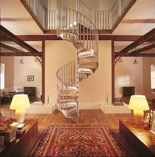 Large Victorian Spiral Staircase with Victorian Balusters