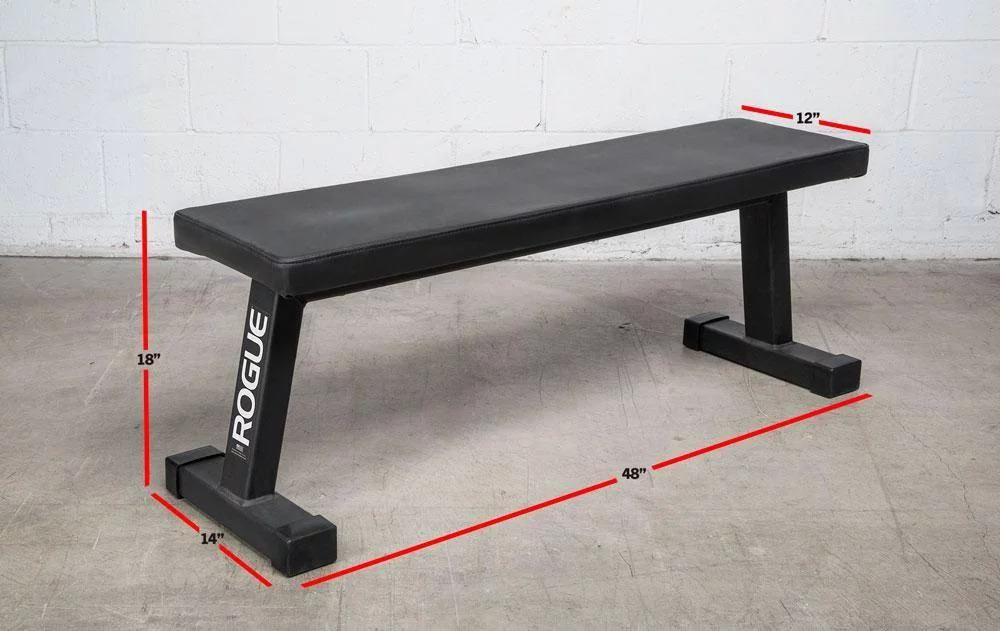 The Redesigned Rogue Flat Utility Bench Takes The Weight Bench Back To Basics Featuring 2x3 11 Gauge Steel Constructi Weight Benches At Home Gym Padded Bench