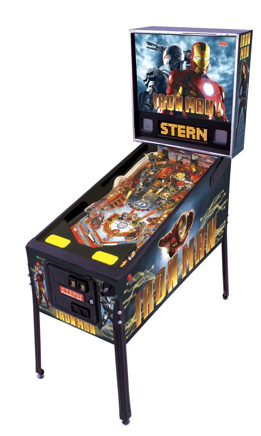 Iron Man pinball machine.