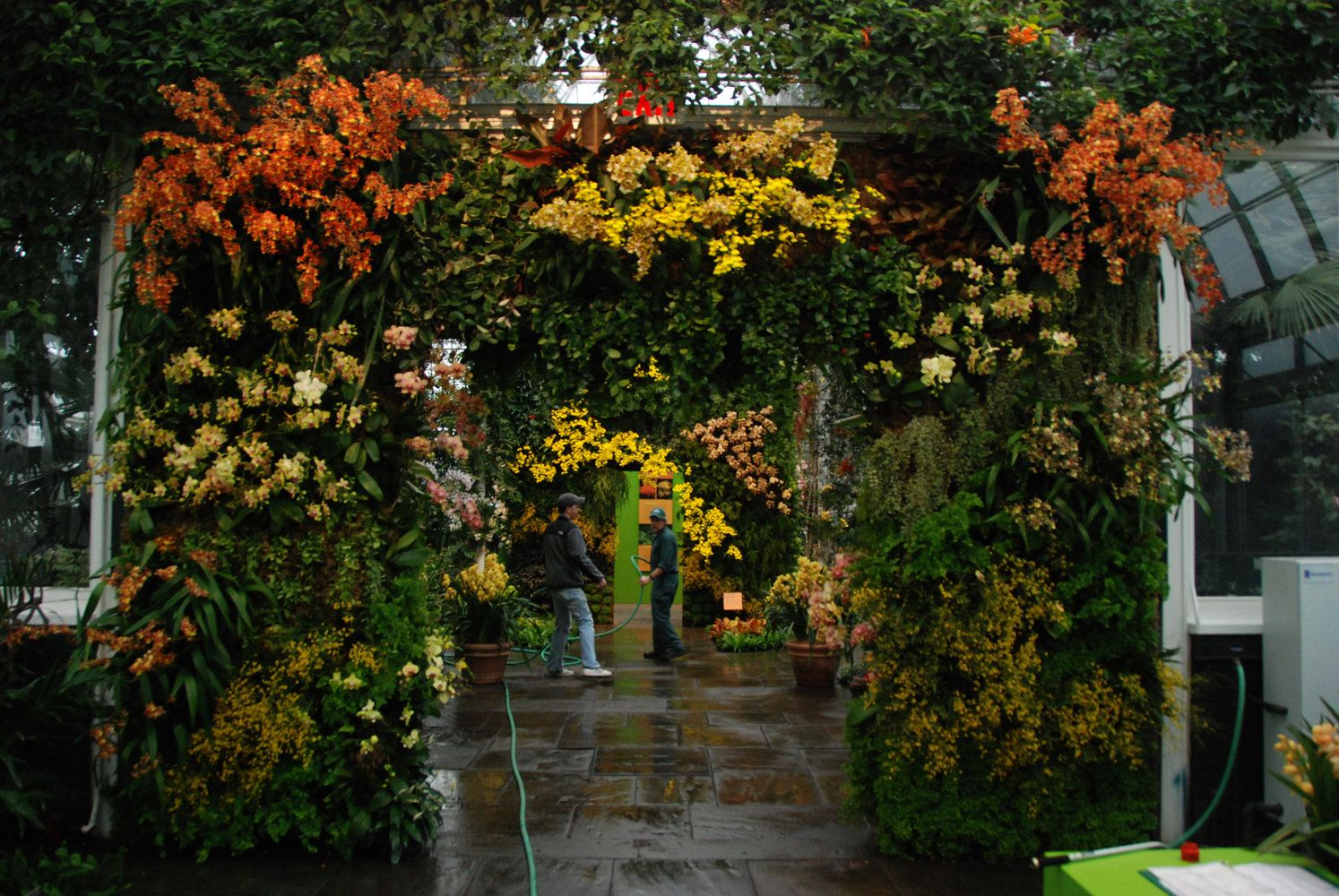 New York Botanical Garden, Orchid Show by Patrick Blanc, Gate and ...