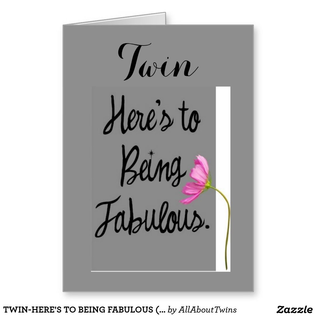 Twin heres to being fabulous birthday wishes greeting card twin heres to being fabulous birthday wishes greeting card kristyandbryce Gallery