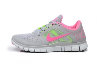 Damen Gr 36 39 Nike Free Run 3 Grau Pink Rosa Bright