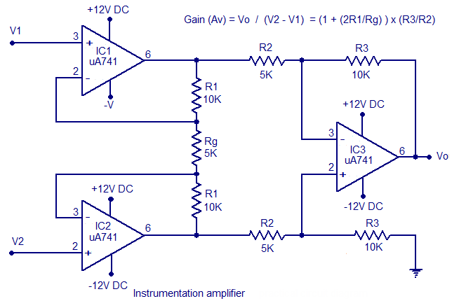 Instrumentationamplifier Is A Type Of Differential Amplifier That